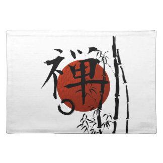 KanjiZen mit Enso und Bambus Stofftischset