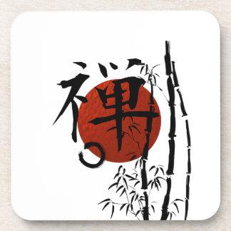 KanjiZen mit Enso und Bambus Untersetzer