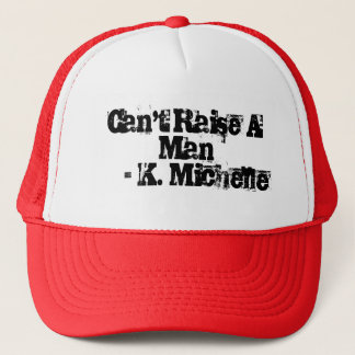 Kann einen Mann-Hut nicht anheben Truckerkappe