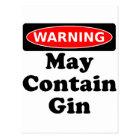 Kann Gin enthalten Postkarte