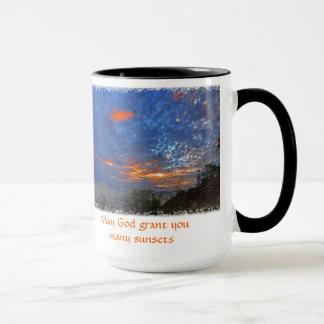 Kann Gottbewilligung Sie viele Sonnenuntergänge - Tasse