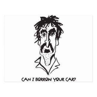 Kann ich borge Ihr Auto Postkarte