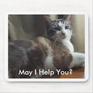 Kann ich helfe Ihnen Mousepad