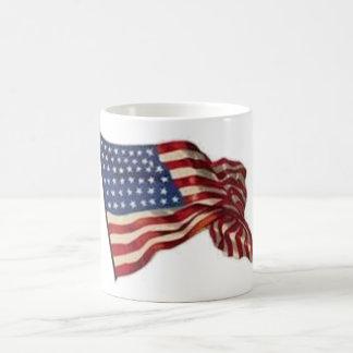 Kann lang sie wellenartig bewegt - Flagge Kaffeetasse