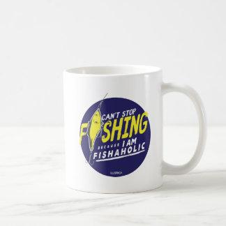 KANN NICHT ZU FISCHEN STOPPEN, WEIL ich FISHAHOLIC Kaffeetasse