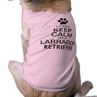Kann ruhigen Labrador-Retriever-Hund nicht Shirt