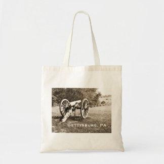 Kanone auf dem Gettysburg-Schlachtfeld Budget Stoffbeutel