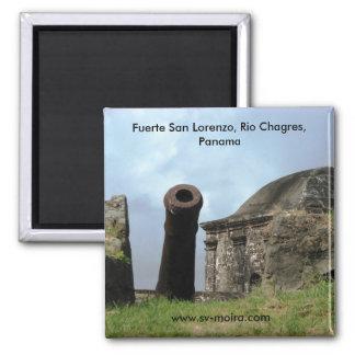 Kanone, Fuerte San Lorenzo, Rio Chagres, Panama Quadratischer Magnet