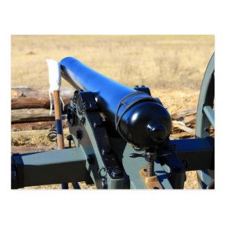 Kanone und ein Ramrod Postkarte