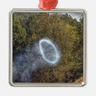 Kanonen-Rauch-Ring Silbernes Ornament