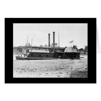 Kanonenboots-Fort Hindman der Mississippi-Flotte Karte