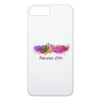 Kansas City skyline im Watercolor iPhone 8 Plus/7 Plus Hülle