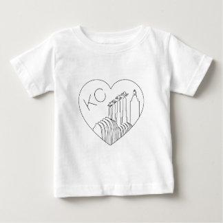 Kansas City - unbedeutende Linie Baby T-shirt