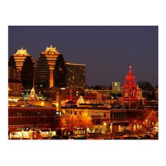 Kansas- Citypiazza beleuchtet Postkarte