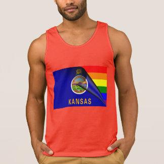 Kansas-Flaggen-Gay Pride-Regenbogen Tank Top