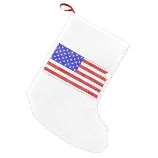 Kansas formte amerikanische Flagge Kleiner Weihnachtsstrumpf