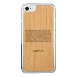 Kansas-Karte Carved iPhone 8/7 Hülle