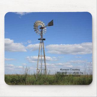 Kansas-Land-Windmühle Mauspads