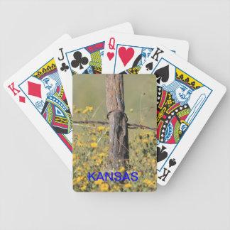 Kansas-Land-Zaun-Spielkarte Bicycle Spielkarten