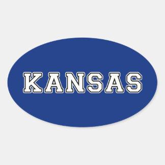 Kansas Ovaler Aufkleber