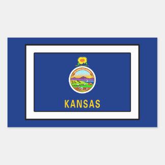 Kansas Rechteckiger Aufkleber