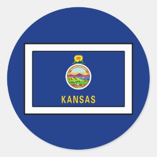Kansas Runder Aufkleber