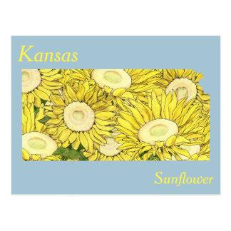 Kansas-Staats-Blumen-Collagen-Karte Postkarte