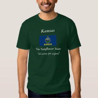 Kansas-Staats-Flagge Tshirts