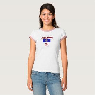 Kansas-Staats-Flaggen-Gewohnheits-Shirt T-Shirt