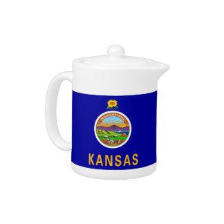 Kansas-Staats-Flaggen-Teekanne