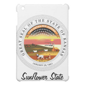 Kansas-Staats-Siegel und Motto iPad Mini Hülle