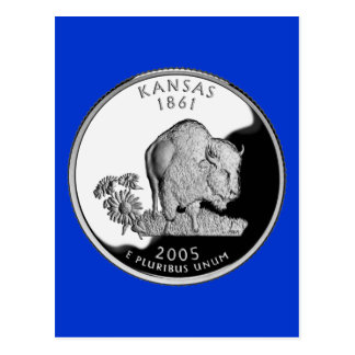 Kansas-Staats-Viertel Postkarte