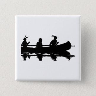 Kanu-Silhouette Quadratischer Button 5,1 Cm