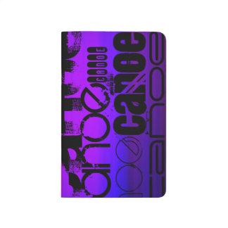 Kanu; Vibrierendes violettes Blaues und magentarot Taschennotizbuch