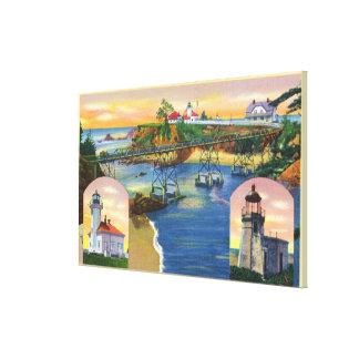 Kap Arago Brücken-und Leuchtturm-Mund Gespannte Galerie Drucke