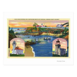 Kap Arago Brücken-und Leuchtturm-Mund Postkarte