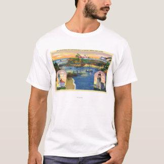 Kap Arago Brücken-und Leuchtturm-Mund T-Shirt