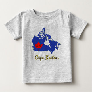 Kap-Bretone fertigen Liebe-Kanada-Provinz-Shirt Baby T-shirt