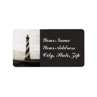 Kap Hatteras Leuchtturm Adressaufkleber