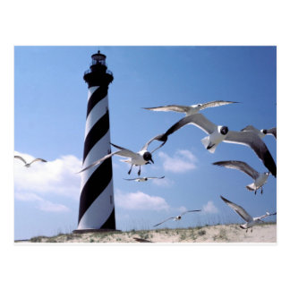 Kap Hatteras Leuchtturm-North Carolinaleuchtturm Postkarte