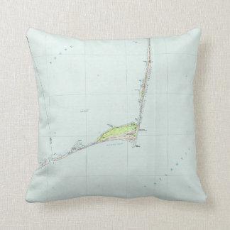 Kap Hatteras nationale Küste Map (1985) Kissen