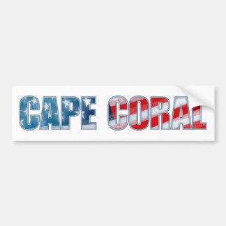 Kap-Koralle Autoaufkleber