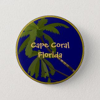 Kap-korallenroter Florida-Palmeknopf/Revers-Button Runder Button 5,7 Cm