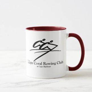 Kap-korallenrotes Rudersport-Verein-Logo Tasse