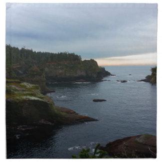 Kap-Schmeichelei-olympische Halbinsel - Washington Stoffserviette