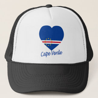 Kap-Verde Flaggen-Herz Truckerkappe
