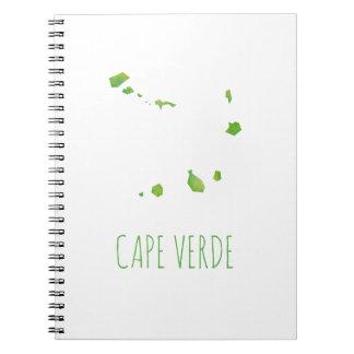 Kap-Verde Karte Spiral Notizblock