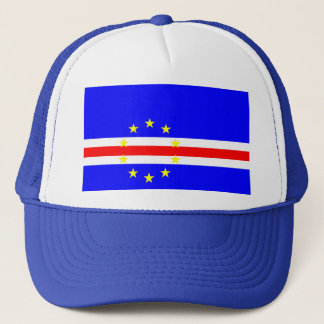 Kap-Verde Landesflaggesymbol lang Truckerkappe