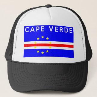 Kap-Verde Landesflaggesymbol-Namentext Truckerkappe