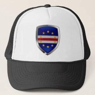 Kap-Verde Mettalic Emblem Truckerkappe
